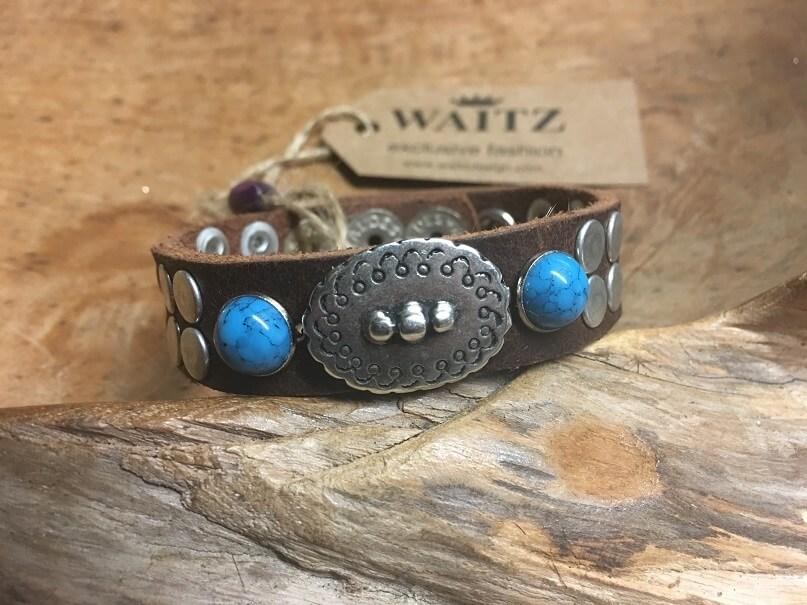 96e57ab8ec67 Waitz bohemian leather bracelets 15 mm - model -15.69