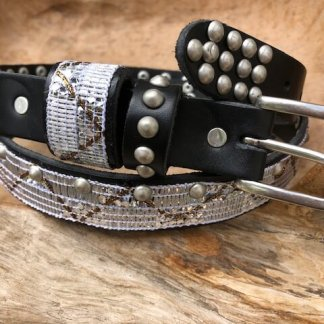 Waitz Bohemian belts collection women - 25 mm/ 1 inch vintage leather belts SS2020