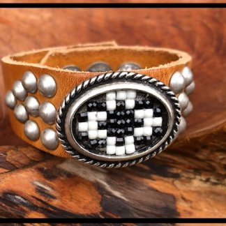 Waitz leather bracelet 25mm/1 inch Women collection SS2021