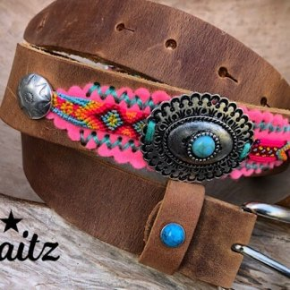 Waitz Bohemian 35 mm Belts Collection women - HD ( decorated belt / undecorated buckle -SS2020