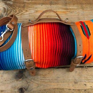 Boho Blankets & Leather Carrier